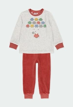 Schlafanzug velour für junge_1