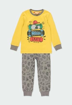"Pijama interlock ""skateboard"" de niño_1"