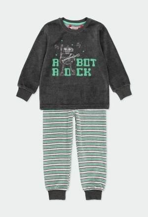 Velour pyjamas striped for boy_1