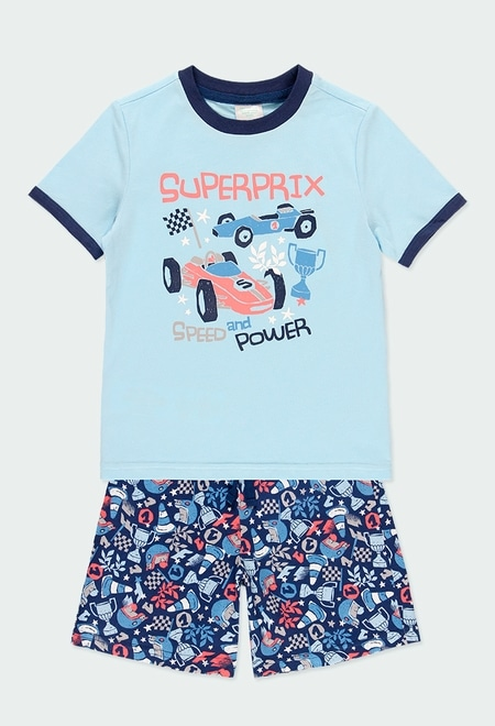 Pyjama en tricot voitures pour garçon_1