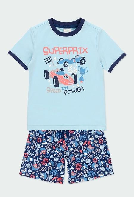 Schlafanzug gestrickt autos für junge_1