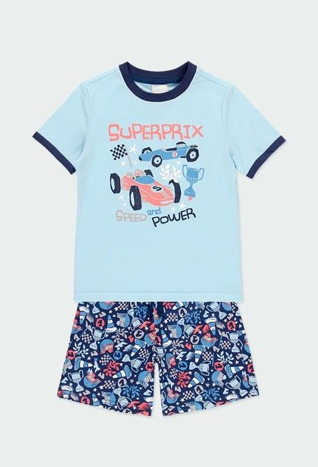Knit pyjamas cars for boy_1