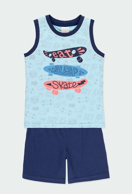 "Pijama malha ""skate generation"" para menino_1"
