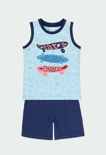 "Knit pyjamas ""skate generation"" for boy_1"