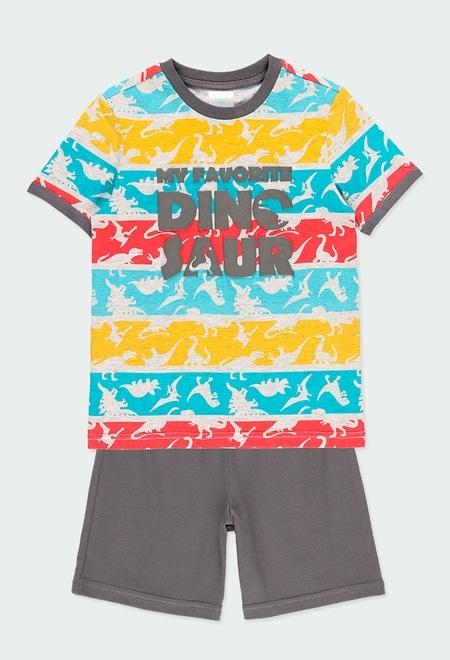 Pijama malha manga curta para menino_1