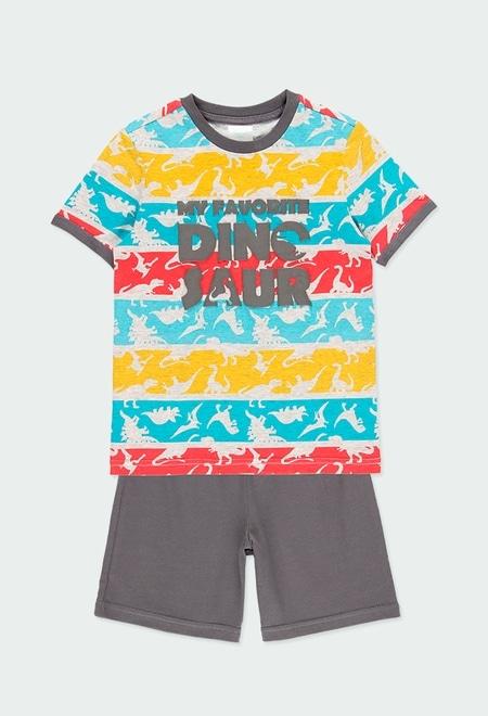 Pyjama en tricot manche courte pour garçon_1