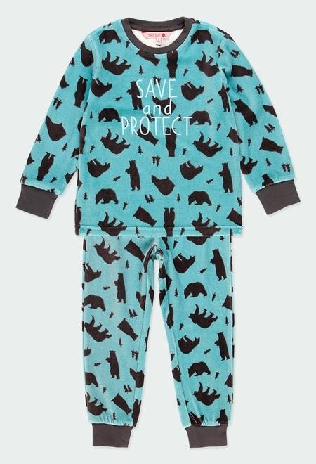 """Schlafanzug velour """"bären"""" für junge_1"""