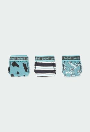 Pack 3 slips knit for boy_1