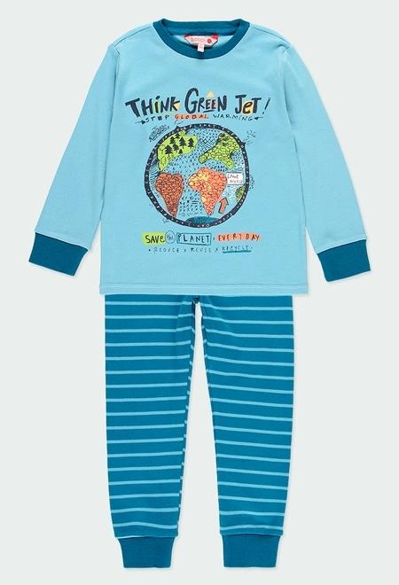Interlock pyjamas striped for boy_1