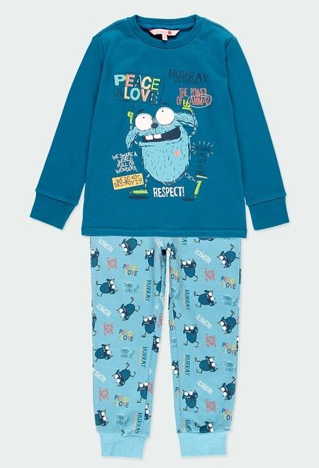 """Pijama interlock """"peace & love"""" de niño_1"""