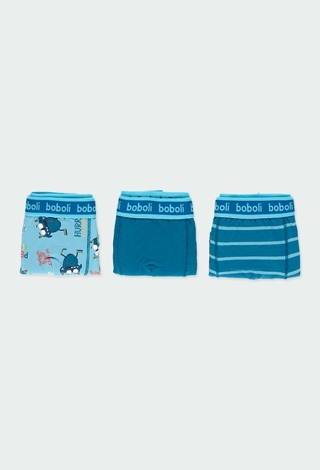 Pack 3 boxers knit for boy_1