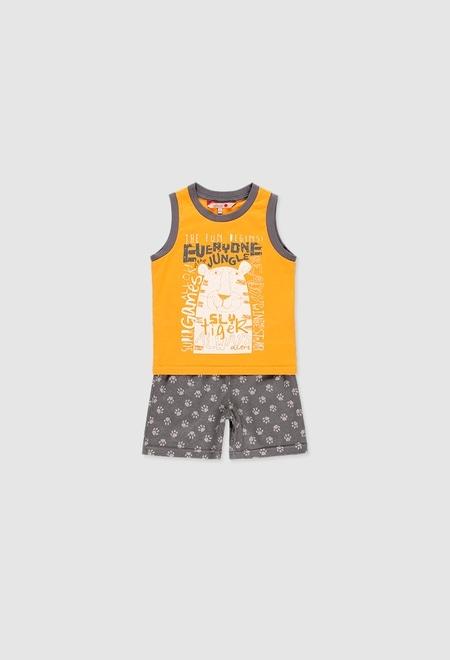 Pyjama en tricot pour garçon_1