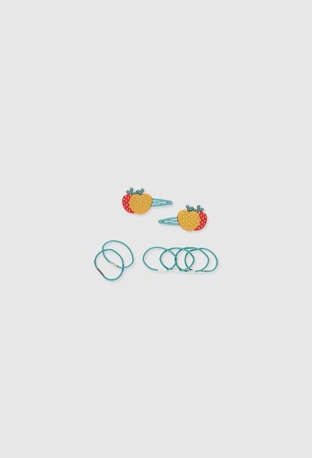 Pack haarbänder und clips für mädchen_1