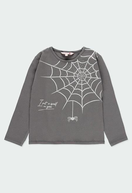 """Camiseta punto elástico """"araña"""" de niña_1"""