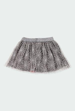 Tulle skirt printed for girl_1