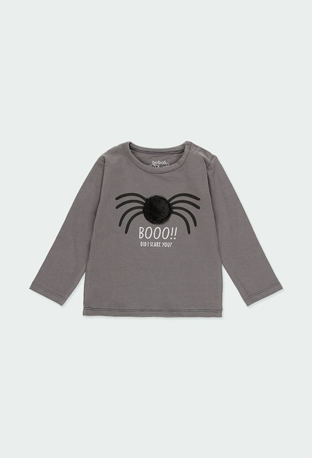 "Camiseta punto elástico ""araña"" de bebé_1"