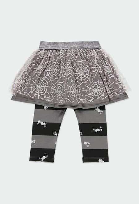 Skirt-Leggings printed for baby girl_1