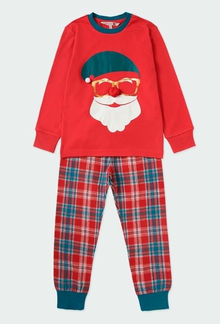 Pijama punto combinado cuadros_1