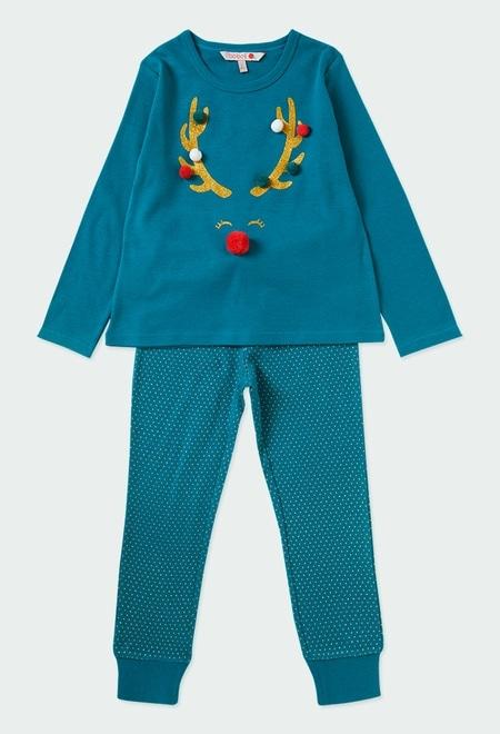 "Pijama punto ""reno"" de niña_1"