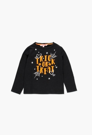 Stretch knit t-Shirt for girl halloween_1