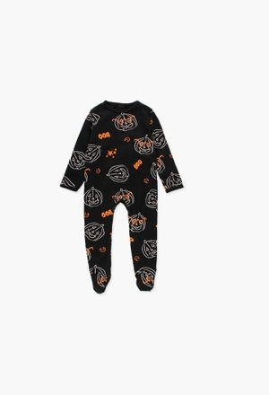 Grenouillère en tricot pour bébé halloween_1