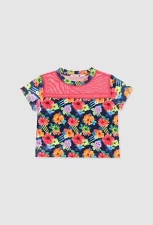 Camiseta de deporte punto elástico de niña_1