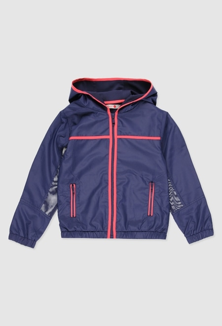 Technical fabric  jacket for girl_1