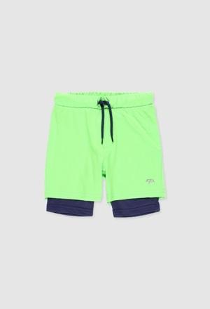 Technichal fabric shorts for boy_1